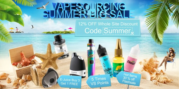 Vape Sourcing — Summer Vape Sale Banner