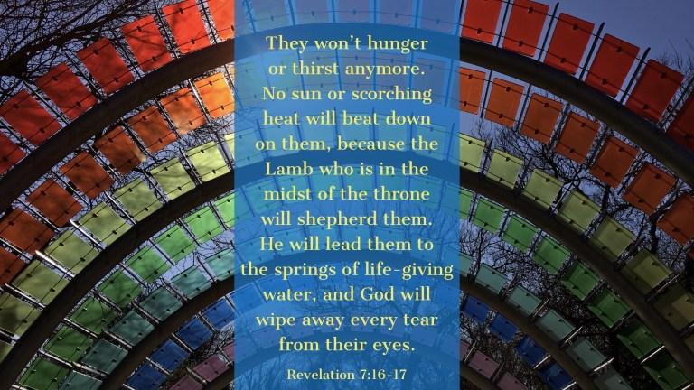 Verse Image for Revelation 7:16-17 - 16x9