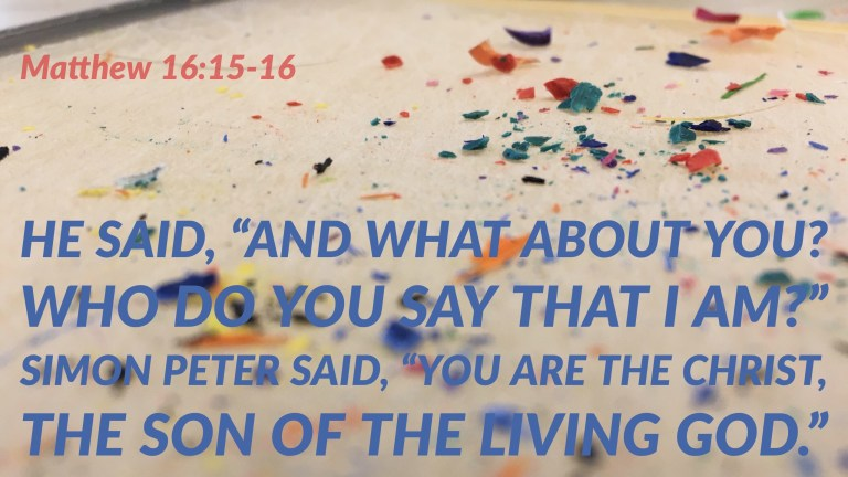 Verse Image for Matthew 16:15-16 - 16x9