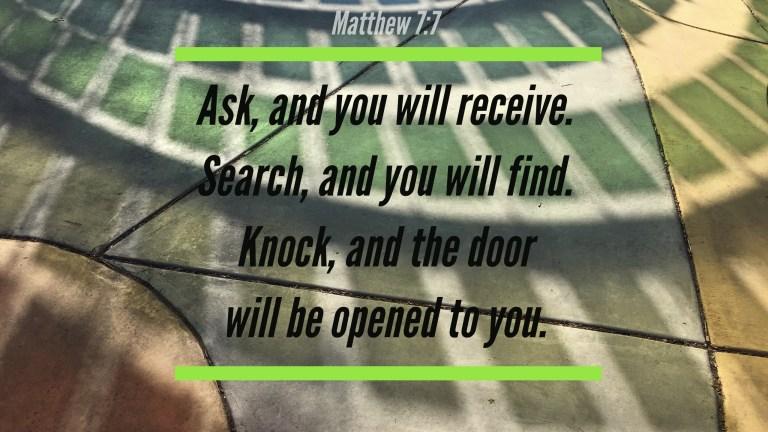 Verse Image for Matthew 7:7 - 16x9