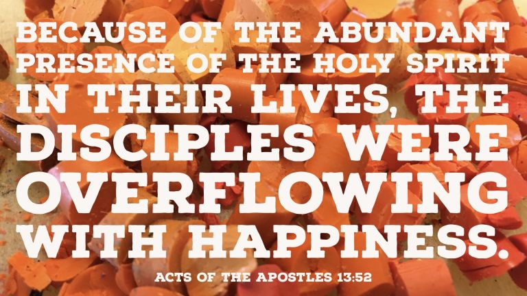 Verse Image for Acts of the Apostles 13:52 - 16x9