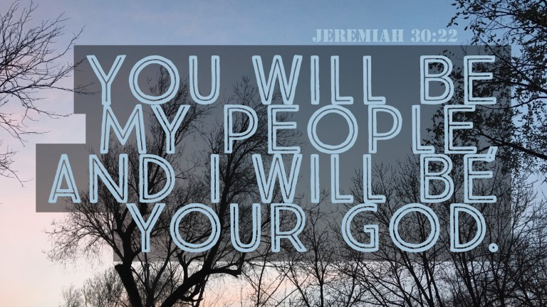 Verse Image for Jeremiah 30:22 - 16x9