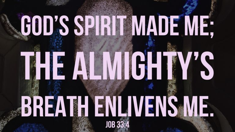 Verse Image for Job 33:4 - 16x9