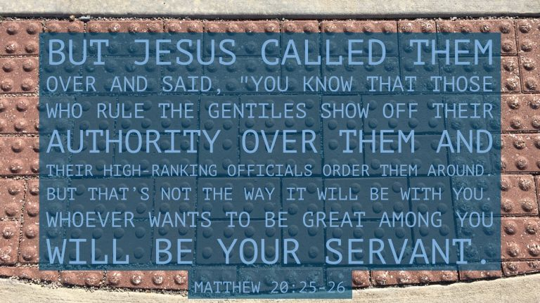 Verse Image for Matthew 20:25-26 - 16x9