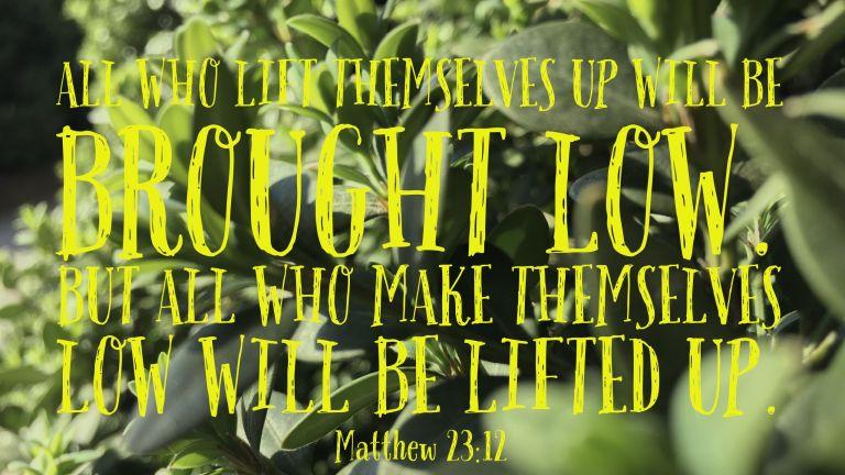 Verse Image for Matthew 23:12 - 16x9