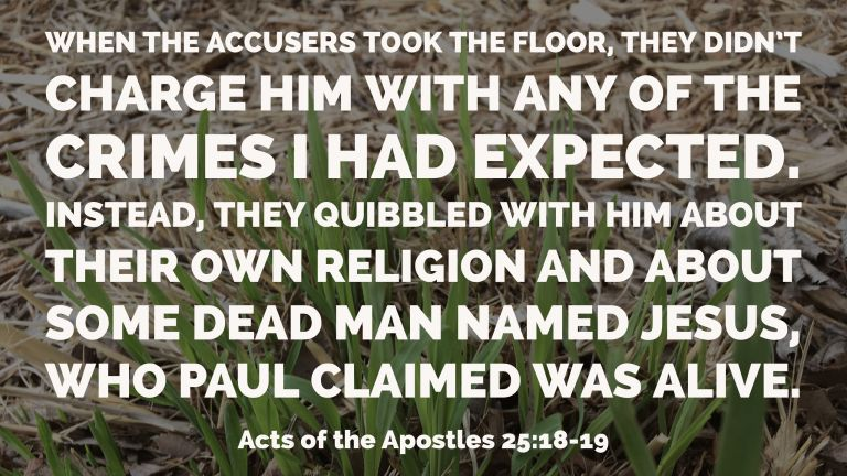 Verse Image for Acts of the Apostles 25:18-19 - 16x9