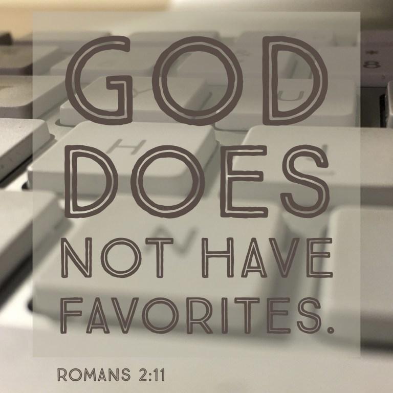 Verse Image for Romans 2:11 - 1x1