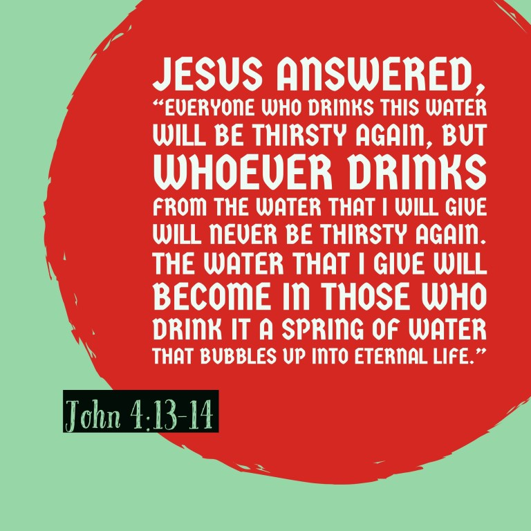 Verse Image for John 4:13-14 - 1x1