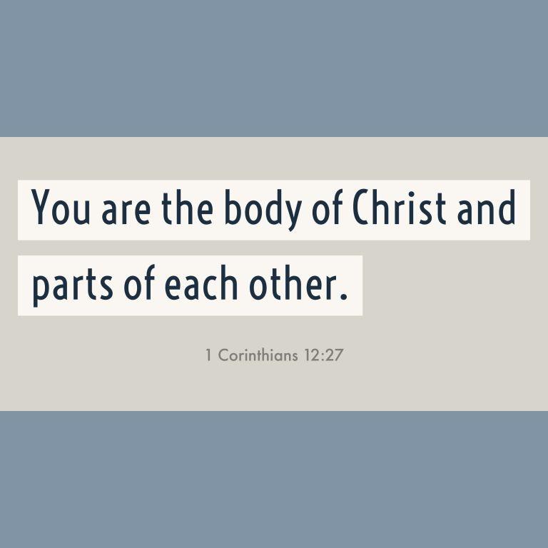Verse Image for 1 Corinthians 12:27 - 1x1