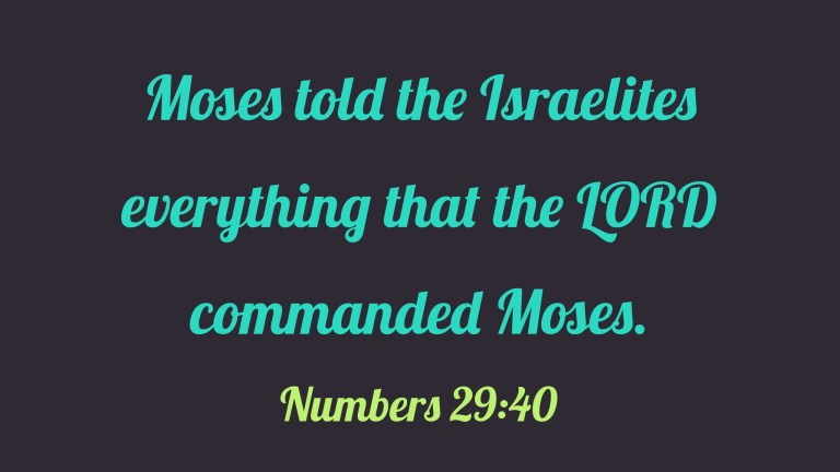 Verse Image for Numbers 29:40 - 16x9