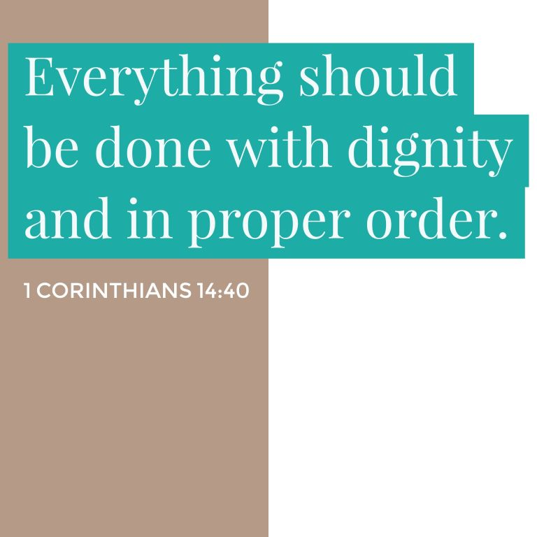 Verse Image for 1 Corinthians 14:40 - 1x1