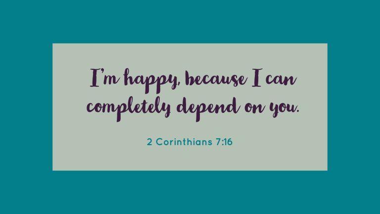 Verse Image for 2 Corinthians 7:16 - 16x9
