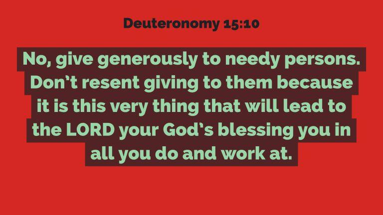 Verse Image for Deuteronomy 15:10 - 16x9