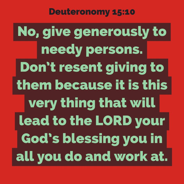 Verse Image for Deuteronomy 15:10 - 1x1