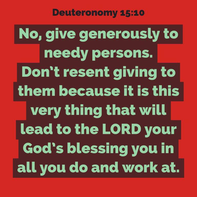 Verse Image for Deuteronomy 15:10 - 1x1