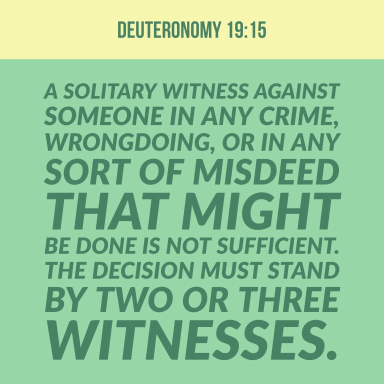 Verse Image for Deuteronomy 19:15 - 1x1
