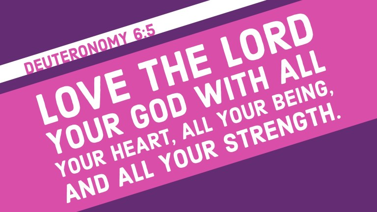 Verse Image for Deuteronomy 6:5 - 16x9