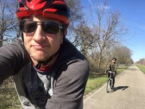 Nathan biking through Europe