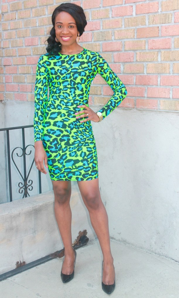 Green & blue leopard dress (3)