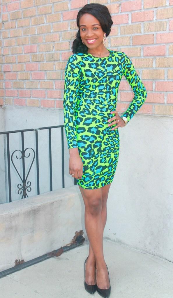 Green & blue leopard dress (6)