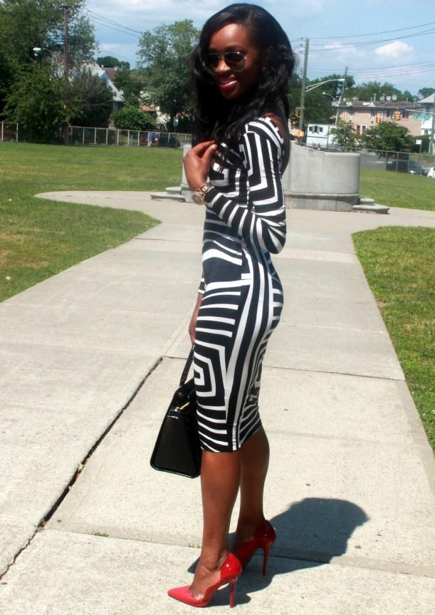 Asos black and white backless midi dress (5)