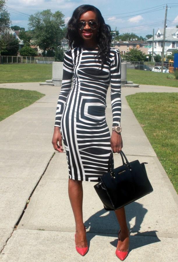 Asos black and white backless midi dress (7)