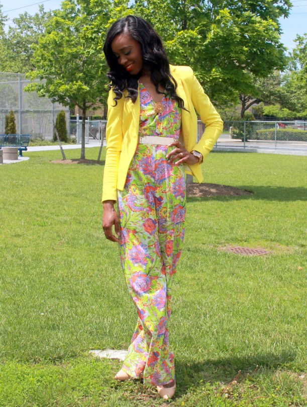 Floral jumpsuit + fitted blazer (4)