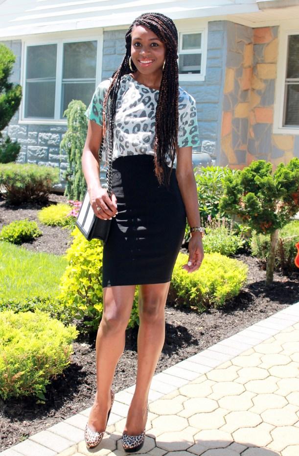 Leopard crop top & pencil skirt (7)