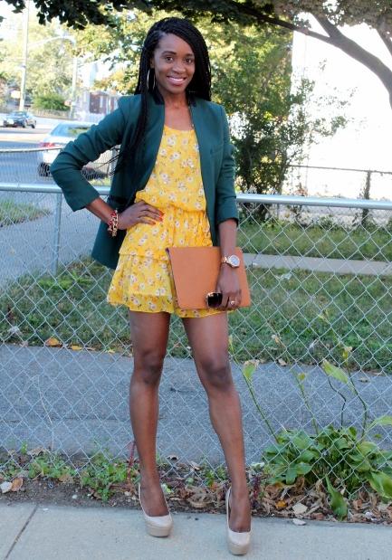 Summer dress + fall colors (2)