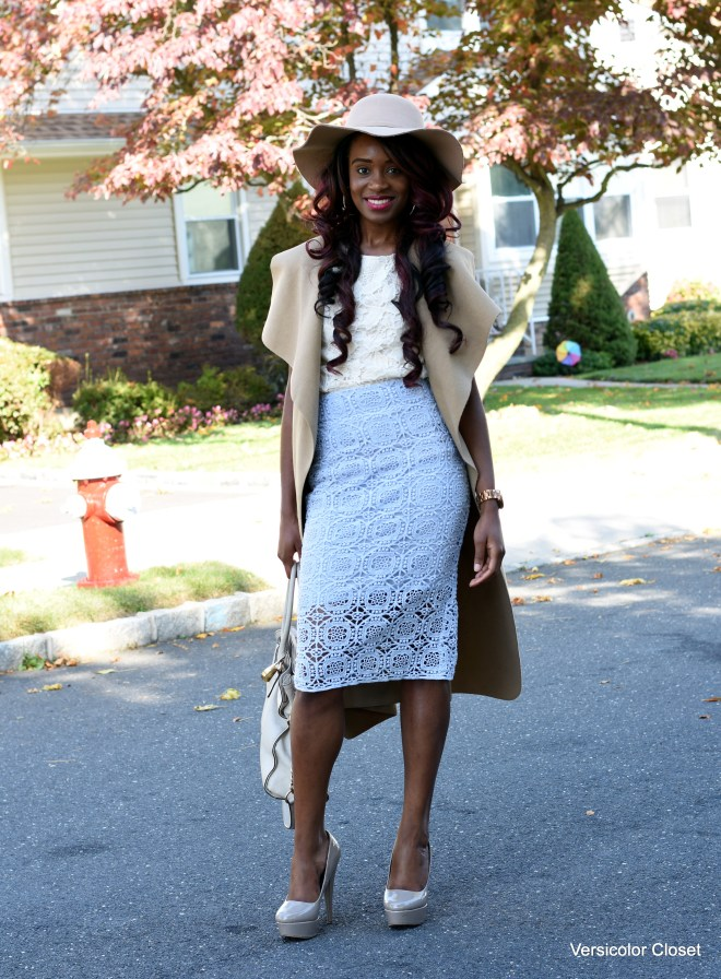 Lace skirt & lace top (5)