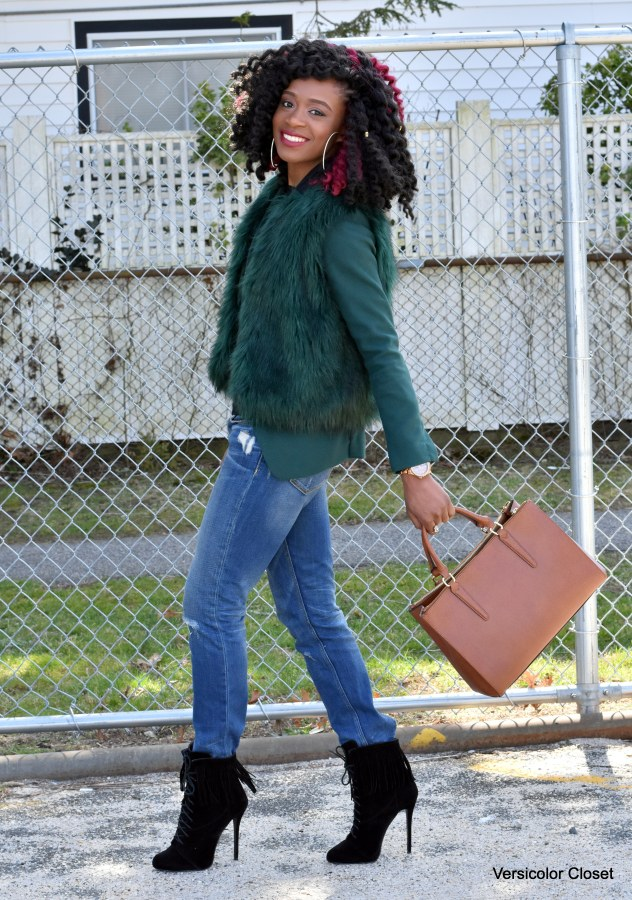 Jeans & faux fur jacket (3)
