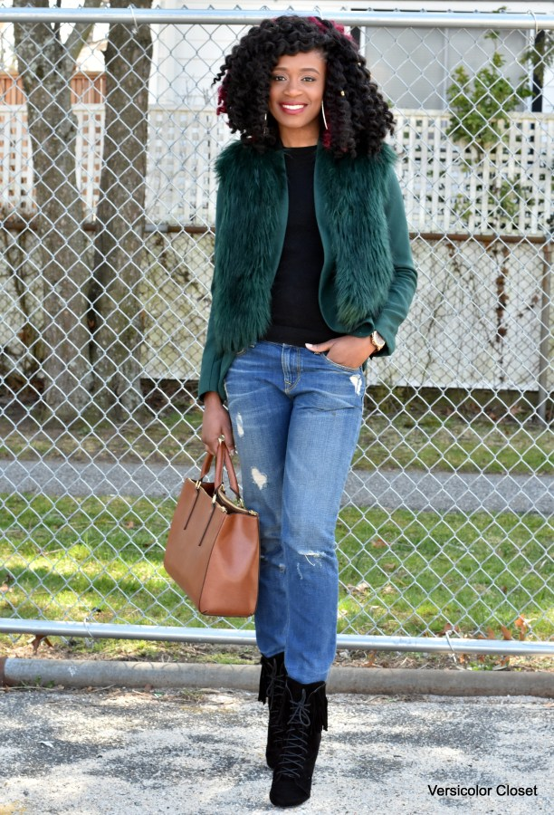 Jeans & faux fur jacket (9)