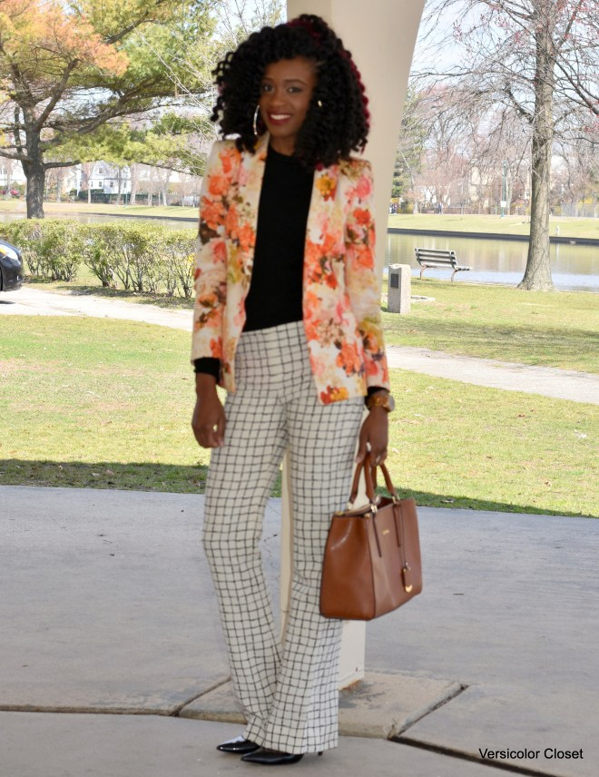 Floral blazer & Striped trousers (3)