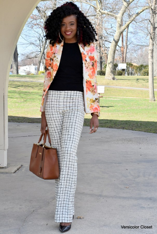 Floral blazer & Striped trousers (5)