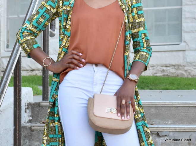 Ankara duster + white skinnies (8)