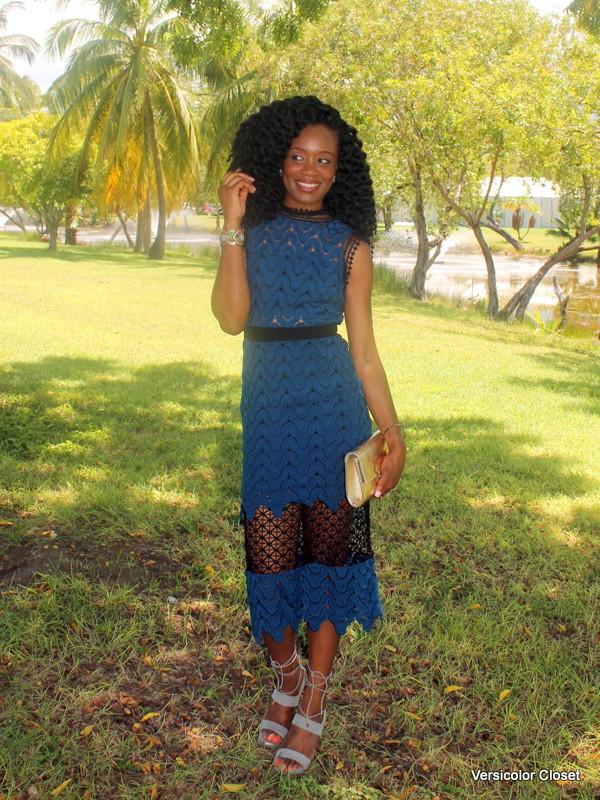 Lace dress + lace up heels (2)