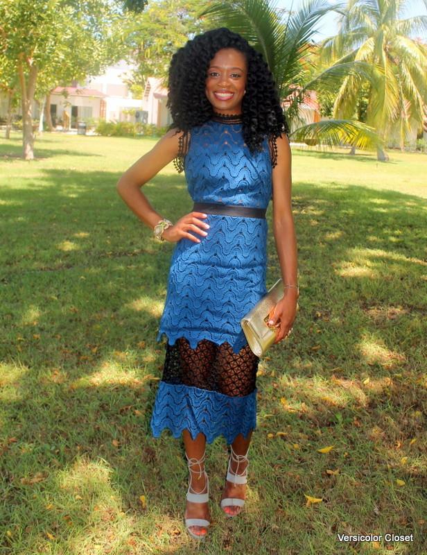 Lace dress + lace up heels (7)