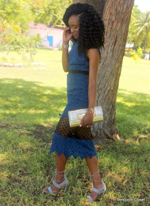 Lace dress + lace up heels (8)
