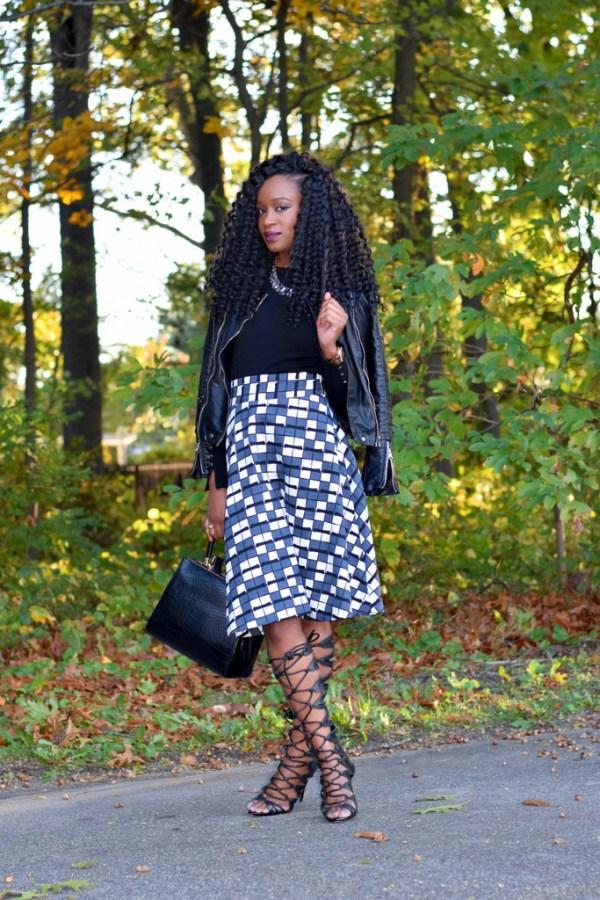 skater-skirt-faux-leather-jacket-gladiator-heels-9