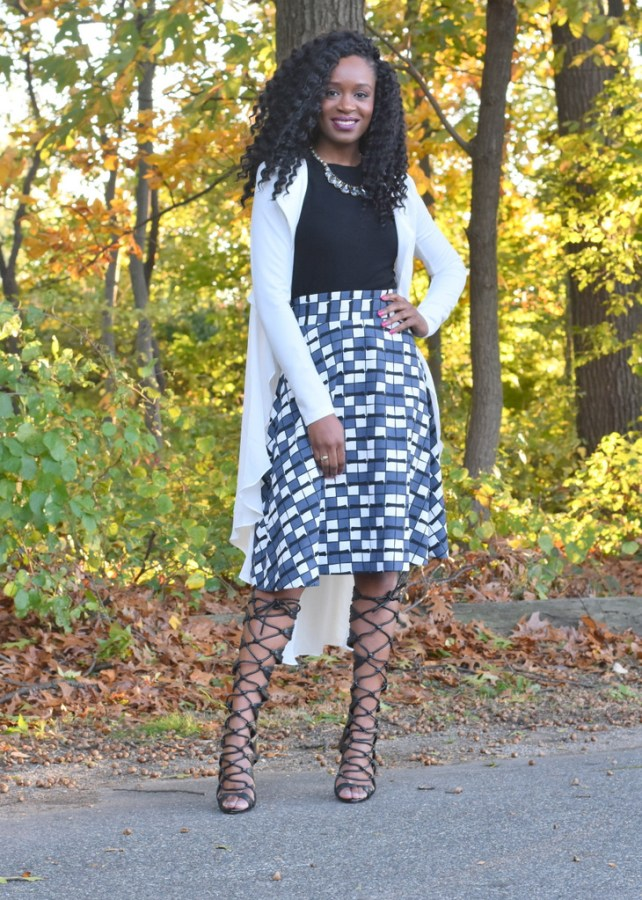 styling-a-skater-skirt-with-a-flowy-blazer-6