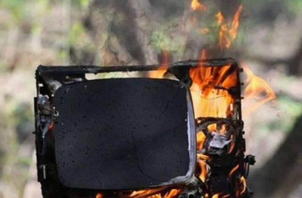 На Долинщині в житловому будинку загорівся телевізор