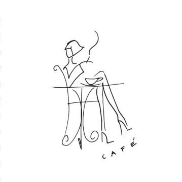 5 café illustration