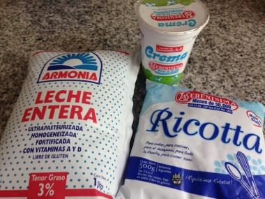 Latte, ricotta e panna nei formati argentini