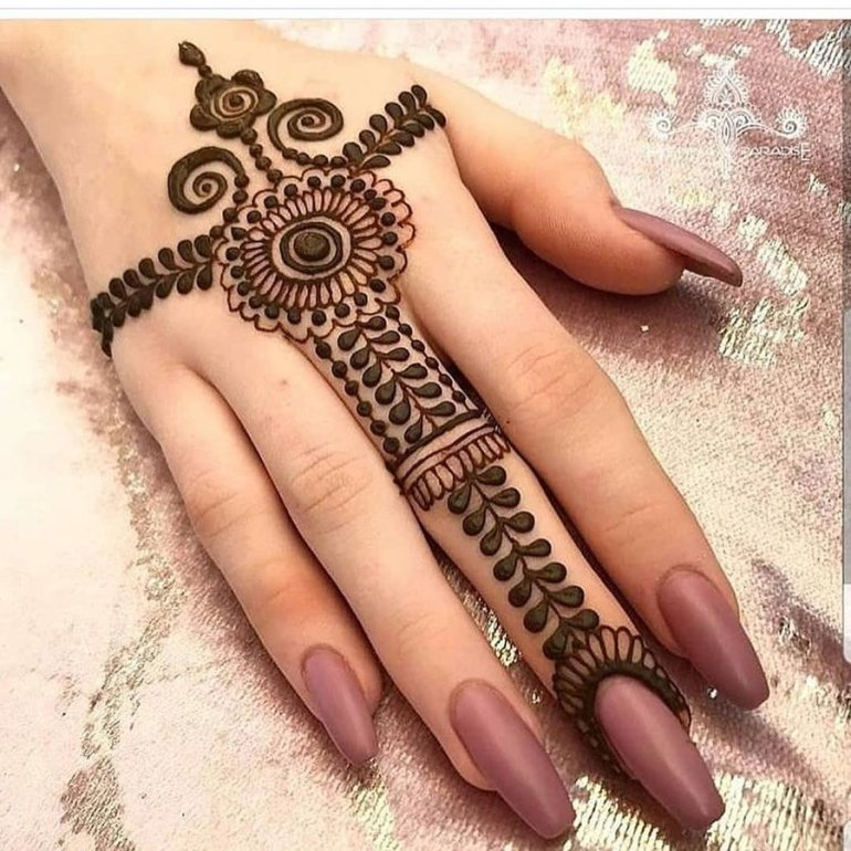Hand Ornament Arabic Mehndi Design 23