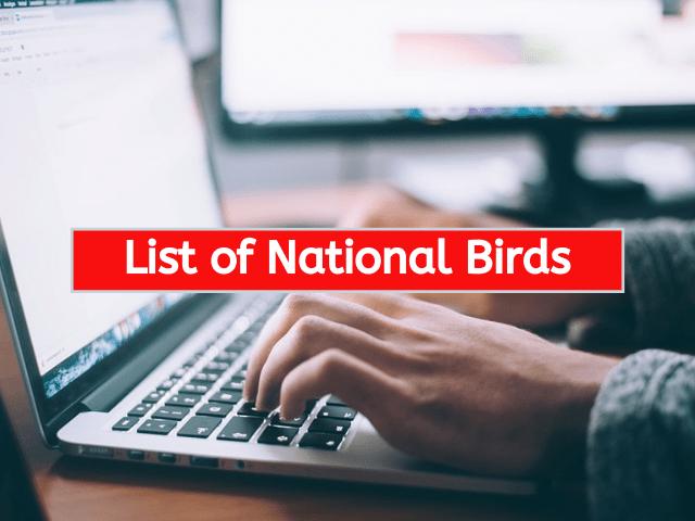 List of National Birds