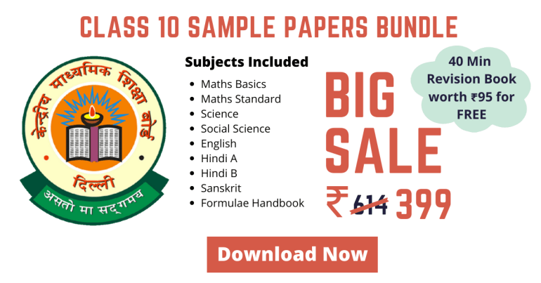 CBSE Sample Papers for Class 10 Bundle PDF Download for 2020 Board Exams