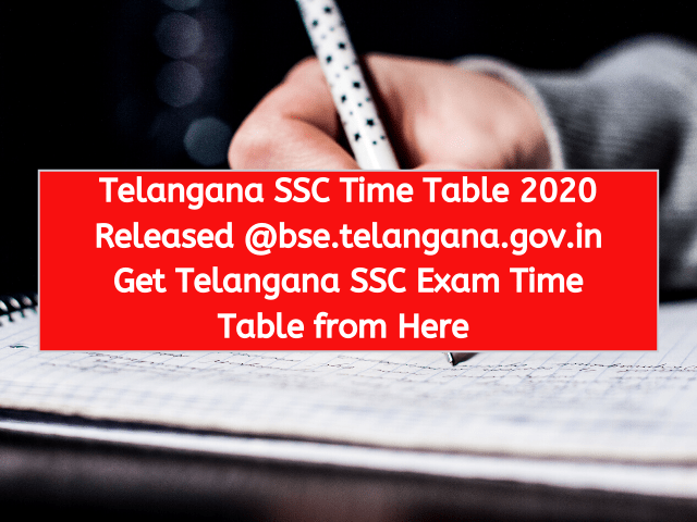 Telangana SSC Time Table 2020 Released