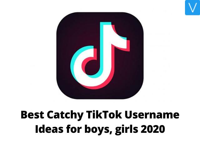 Best Catchy TikTok Username Ideas for boys, girls 2020