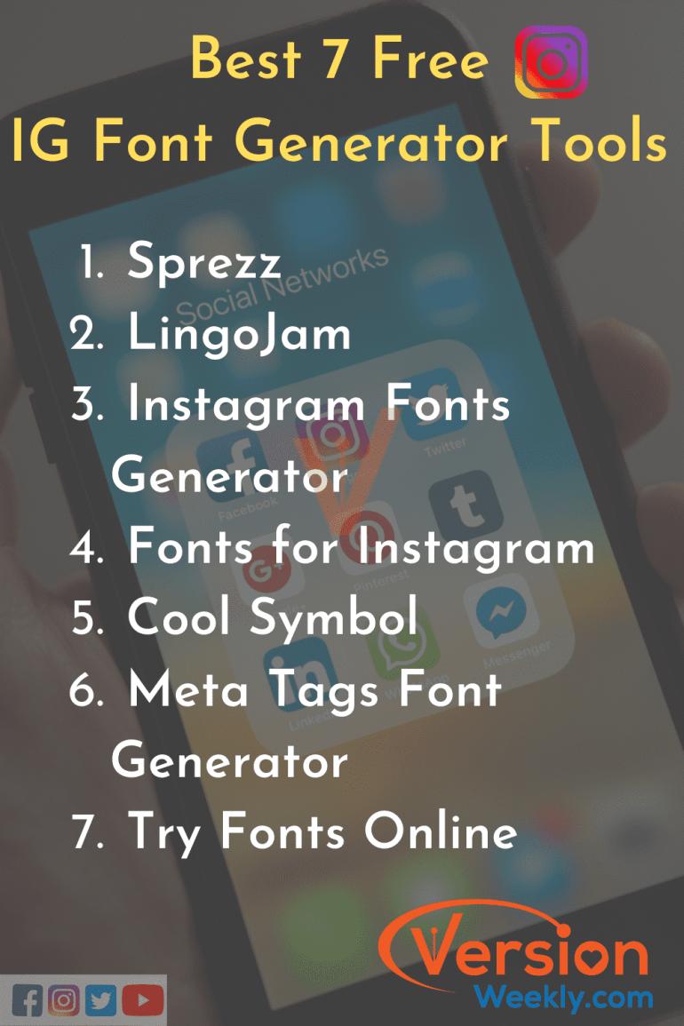 Best Instagram Font generator tools list