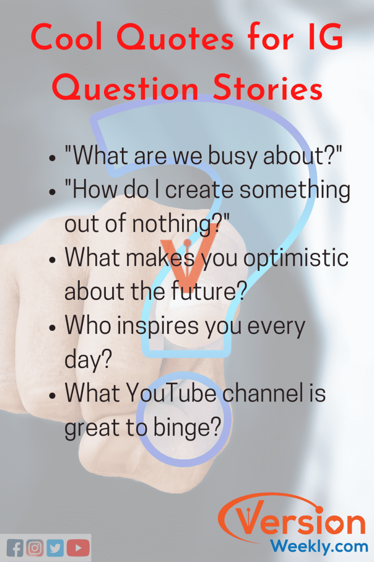 IG Question Quotes for stories
